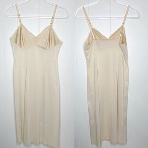 Vintage Vanity Fair Nude Midi Slip Dress 34 L
